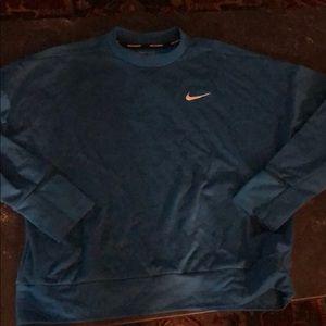 Nike women's running sweatshirt. Blue. Size M.